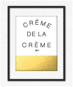 Creme De La Creme #luvocracy #print #graphicdesign