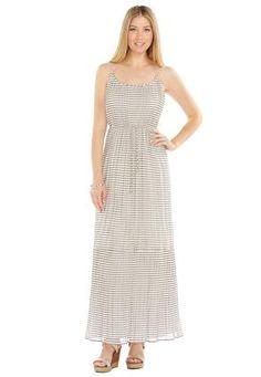 e55cb17cf73 Cato Fashions Sheer Striped Pleated Maxi Dress  CatoFashions   catosummerstyle Pleated Maxi