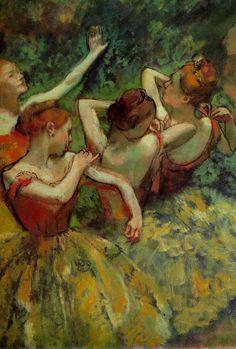 Four Dancers detail,1899  Edgar Degas
