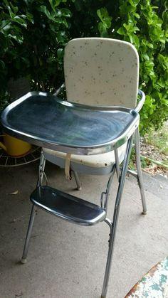 Cosco vintage retro highchair baby high chair mid century Eames era starburst #Cosco