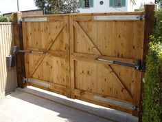 Image result for wooden gates and fences for driveways