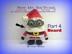 Rainbow Loom Mr Santa Claus Minion (PART 4 of 4) - Loomigurumi - Amigurumi Hook Only - YouTube