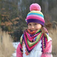 Crochet rainbow scarf crochet pattern by VendulkaM on Etsy Crochet Kids Scarf, Crochet Baby Beanie, Crochet Cap, Crochet Scarves, Crochet For Kids, Crochet Shawl, Double Crochet, Single Crochet, Crochet Clothes
