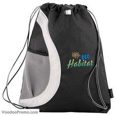 51% post-consumer recycled materials cinch backpack.  http://www.voodoopromo.com/produits-wow.html