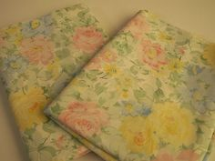 Pastel-Floral-Print-Fabric-Remnants-Fabric-Bows-Doll-Clothes-DIY-Craft-Sewing