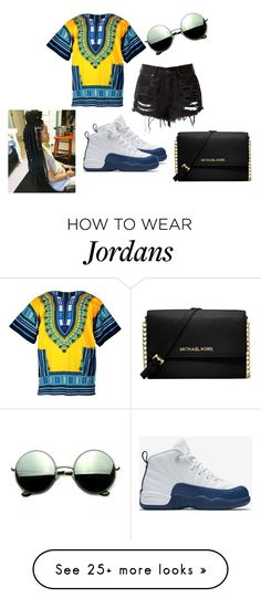 """""""Poppinnn"""" by zakarriahbunch on Polyvore featuring NIKE, Revo and Michael Kors"""
