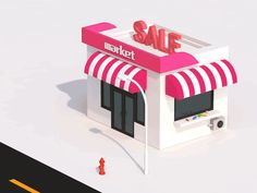 A supermarket by Jason-ren - Dribbble