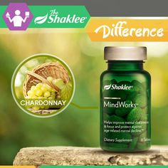 ONLY AVAILABLE TO SHAKLEE!http://bit.ly/Shaklee-5-Major-SinsShaklee's Mindworks is powered by an exclusive polyphenol blend from chardonnay seed extract.The unique chardonnay grape seed polyphenol blend is designed to help make vital nutrients available to the brain by supporting healthy circulation. Thus, helps improve mental sharpness and focus.