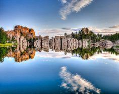 custer state park, black hills, south dakota..sylvan lake.