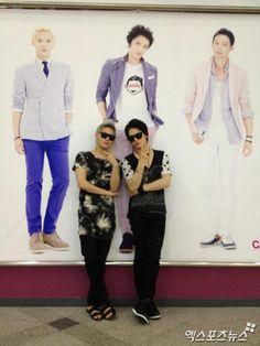 Jaejoong and Junsu.