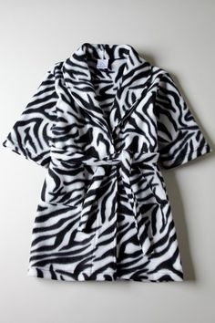 Toddler zebra fleece robe....so awesome