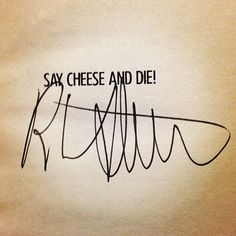 Also need room for my signed copy of Say Cheese and Die! by R.L. Stine.