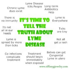 So many people are not aware of what Lyme entails. Time to educate everyone on this epidemic. Stop diagnosing people with Fibro, MS, Mental illness, CFS, Parkinsons etc. when they have Lyme!!!