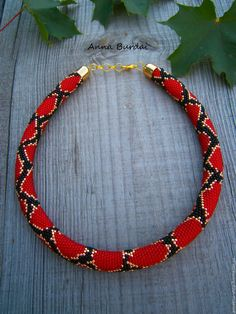 Red lariat necklace Crochet bead lariat Long necklace lariat Crochet rope lariat Red jewelry Gift for her Red seed beads Valentines gift MEASUREMENTS Crochet Beaded Necklace, Beaded Jewelry, Jewelry Necklaces, Ruby Jewelry, Black Jewelry, Handmade Jewelry, Bead Crochet Patterns, Bead Crochet Rope, Snake Necklace