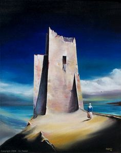 """Crusader's Tower - David Fedeli 24""""x18"""" Oil on Canvas"""