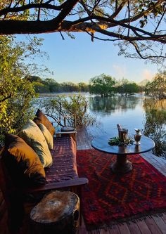 Sindabezi Island Lodge in Zambia is set on a secluded private island in the middle of the Zambezi, this is the only bush camp in the Victoria Falls region and a luxurious and really rather romantic option. Safari Holidays, Safari Adventure, Victoria Falls, African Safari, Home Staging, Luxury Travel, Lodges, Sunsets, National Parks