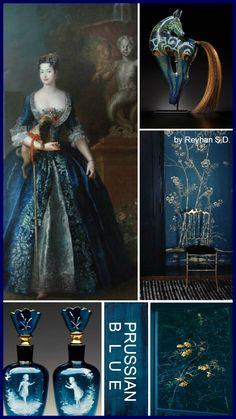 '' Prussian Blue '' by Reyhan S. Colour Pallette, Colour Schemes, Color Trends, Color Combinations, Bleu Pastel, Prussian Blue, Color Collage, Color Balance, Colour Board