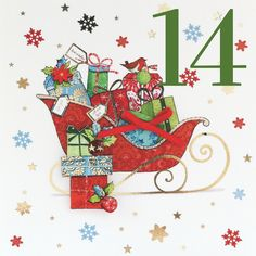 Behind door number 14 is this beautiful sleigh all laden with gifts ready to go out to boys and girls all over the world!