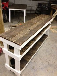 craigslist reclaimed wood table & shelves