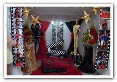 decoracion fiesta tematica sobre hollywood - Buscar con Google