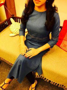 Cotton top only at Salwar Neck Designs, Kurta Designs Women, Blouse Designs, Latest Kurti Designs, Frock Patterns, Kurta Patterns, Churidhar Designs, Salwar Pattern, Kurti Embroidery Design