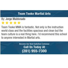 Team Tooke MMA is fantastic. Not only is the instruction world class and the facilities...