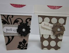 Cindee Wilkinson's mocha cup cards are way too cute!