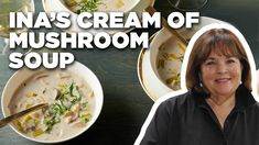 Cook Cream of Wild Mushroom Soup with Ina Garten Wild Mushroom Soup, Mushroom Soup Recipes, Wild Mushrooms, Creamed Mushrooms, Stuffed Mushrooms, Mushroom Hunting, Ina Garten Chicken Salad, Food Network Recipes, Cooking Recipes