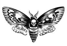 Blind Angel Tattoo Designs Lower Back Tattoos - Trend Tattoo Ocean 2019 Creepy Tattoos, Tattoos Skull, Body Art Tattoos, Small Tattoos, Sleeve Tattoos, Temporary Tattoos, Horror Tattoos, Neck Tattoos, Lunar Moth Tattoo