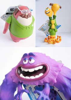 Monsters University Figures - Don Carlton, Art, Terri and Terry - Bandai #Bandai