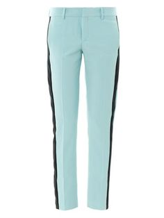 Shop now: MGSM Contrast-stripe tailored trousers