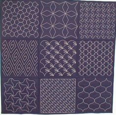Japanese Sashiko quilting/embroidery