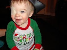 good tips on patching for toddlers with eye problems such as cataract and strambismus.