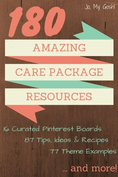 16 care package Pinterest boards, 87 tips, ideas recipes, 77 theme examples. Pin now for the next deployment!