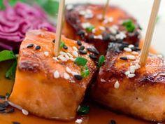 teriyaki salmon appetizer