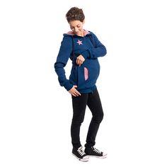 Esta chaqueta portabebé multifuncional 3 en1 de Sweatshirt es una cómoda chaqueta durante el embarazo como chaqueta ocasional, al momento de transportar al bebé y luego como una elegante chaqueta para uso diario. El diseño inteligente permite ponerse y quitarse la chaqueta