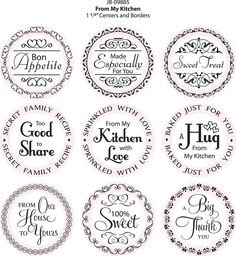from my kitchen gift labels Spice Labels, Gift Labels, Jar Labels, Gift Tags, Canning Labels, Candle Labels, Canning Jars, Printable Labels, Free Printables
