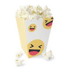 Smilefjes Popcornbeger Popcorn, Party, Caramel, Creative, Fiesta Party, Parties