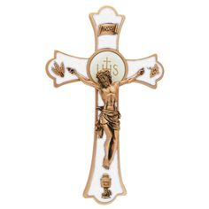 Pearl & Gold Holy Mass Crucifix
