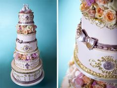 Let them eat cake! Marie-inspired cake decadence (and link roundup) – What Would Marie Antoinette Do? Gorgeous Cakes, Pretty Cakes, Amazing Cakes, Gorgeous Gorgeous, Cake Wrecks, Parisian Wedding Theme, Baroque Wedding, Little Lunch, Fancy Cakes