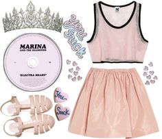 """""""Marina And The Diamondes"""" by v1rginal-suicides ❤ liked on Polyvore"""