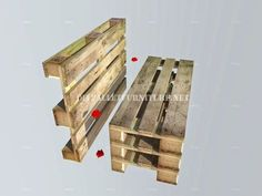 How to make a bench with pallets step by step 3 diy pallet - diy pallet projects - diy pallet furnit Pallet Furniture Bench, Pallet Couch, Diy Garden Furniture, Furniture Ideas, Barbie Furniture, Furniture Design, Outdoor Furniture, Wooden Pallet Projects, Wooden Pallets