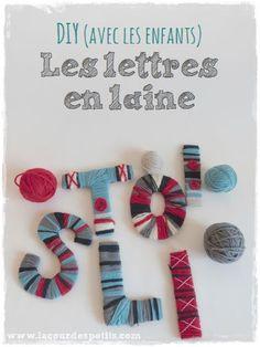 Découvrez comment faire un prénom en laine avec les enfants. Un bricolage facile et ludique pour les petits qui veulent jouer avec les lettres de leur prénom.