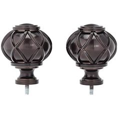 Amazon Basics Round Capped Curtain Rod Finials - Set of Two, Bronze Gold Curtain Rods, Curtain Weights, Decorative Curtain Rods, Finials For Curtain Rods, Window Curtain Rods, Gold Curtains, Drapery Rods, Heavy Weight Curtains, Iron Ring