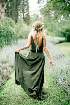 #green #wedding #dress