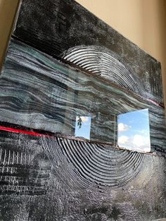 Texture abstract painting with resin on canvas modern art original art home decor wall decor