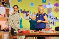 Usando delle stoffe leggere come una lana e seta il coprispalle potrà essere indossato anche come foulard. Tratto dalla trasmissione Detto Fatto su Rai 2