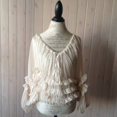 Reserved for Mandy ivory Silk Chiffon Bohemian by BohoAngels, $56.00