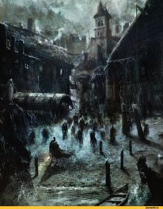 Лавкрафт,Lovecraft art,тень над иннсмаутом