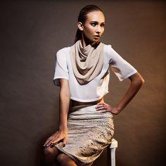 AGABUB Sparkle Scarf #protectyaneck | TopMan/TopShop Blouse & Skirt